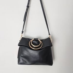 NWT Black Leather Vince Camuto Kimi purse